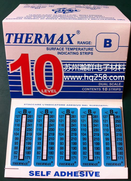 英国THERMAX温度纸,10级进口温度热敏试纸B型号(77-127度)/测温贴