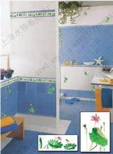 厨房卫生间厕所墙面瓷砖花砖腰线贴纸花卫浴装 修设计效果图荷花