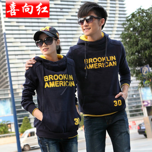 Korean version of the 2016 new loose thick sweater Korean female models in autumn and winter coat first couple sets single coat