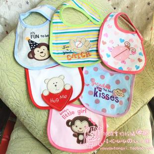 Carter original single men and women newborn infant baby cotton waterproof bibs cartoon bibs