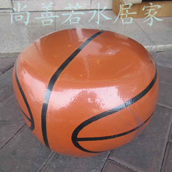 Баскетбол кожаный стул стул стул для обуви обувь кожи блоков диван стул стул идея низкой стул в детей мультфильмы