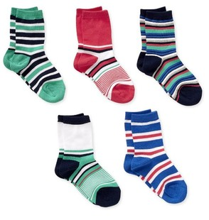 British big MOthercare official website paragraph Striped cotton Lycra socks odd and even children