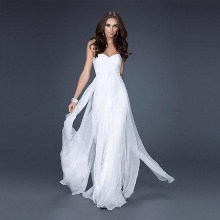 欧美风范时尚礼服 新娘结婚迎宾敬酒礼服 伴娘团礼服 车模长礼服