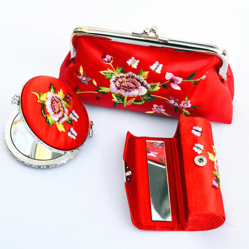 Вышивка зеркало бусинка красный Смена коробки пакет комплект Особенности китайского стиля ручная работа Художественные подарки за рубежом в подарок иноземец