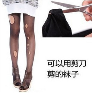 6 pairs of arbitrarily cut stockings rompers anti-hook wire stovepipe upshift pantyhose bottoming socks socks genuine summer