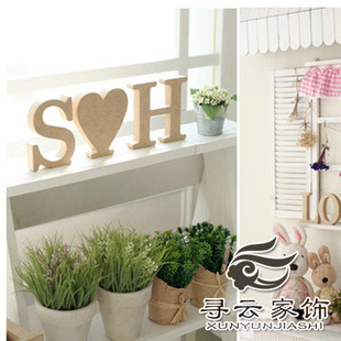 Find cloud wooden letters home furnishings photography props diy wedding decoration ideas Decoration letter