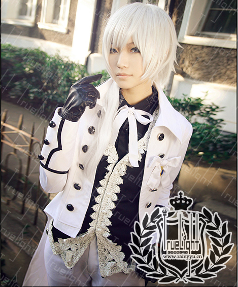 White night city original Cosplay black deacon Charles gray tuxedo white Earl dress custom made