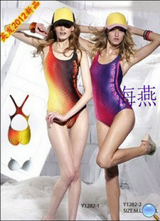 The new British made digital printing triangular piece of civil anti chlorine Y 1282 detachable satin swimsuit chest pad