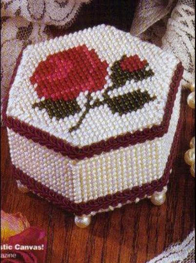 Свыше 30 почты ? ? стерео трехмерной крестом вышивка Kit шестиугольника Роуз ювелирные изделия коробки 60
