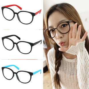 Japan and South Korea the new big box plain glass spectacles fresh fashion trends for men and women necessary retro round glasses frame piece