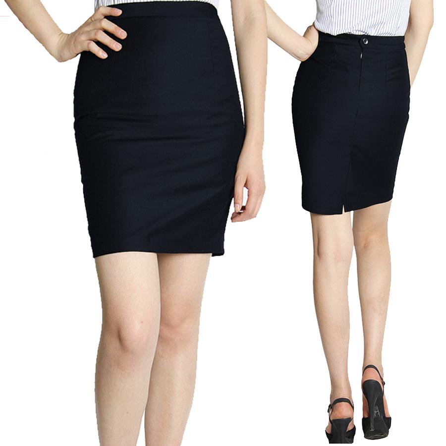 ~丁丁 ~女士一步裙包臀黑 工裝裙職業裙大碼半身裙