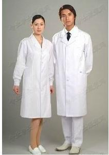 Doctors serving men and women thicker standard long sleeves clothes nurse physician. Lab coat white coat color powder