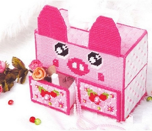 Three dimensional embroidery wool embroidery stitch kits 5D new living room tissue box B 97