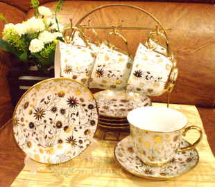 Coffee cup and saucer 12 European fashion creative ceramic hob with tea sets wholesale wedding package