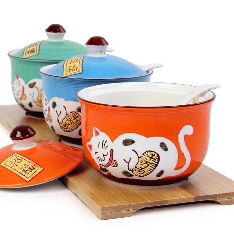 陶瓷調味罐套裝廚房鹽罐子日式調料盒陶瓷調味盒 調料罐三件套