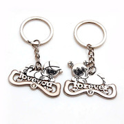 Smiling couple Keychain LOVE YOU love you lovers of fashion accessories pendant key ring 336434