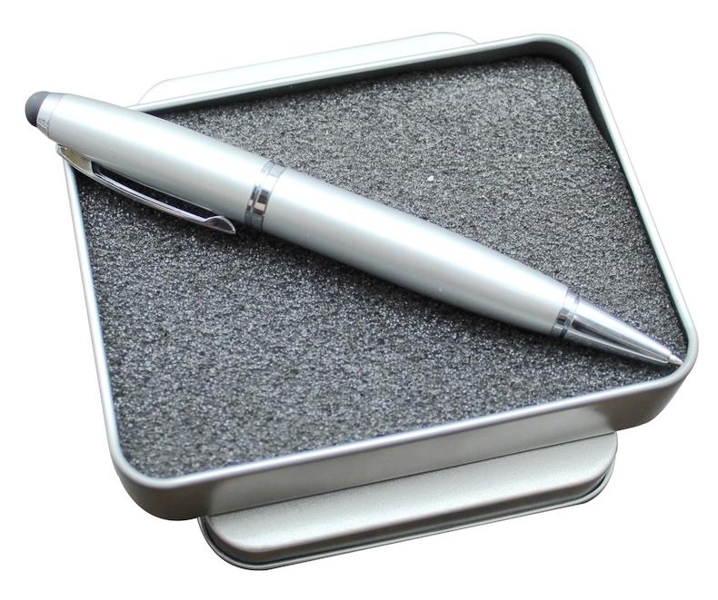 3合一触控笔式u盘4GB 定制logo印公司商务礼品订做l刻字优盘4g