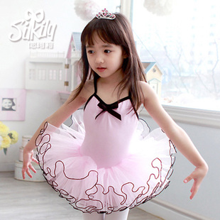1092 Korean children cotton Yvonne Keli dance ballet tutu skirt suspenders clothes and costumes