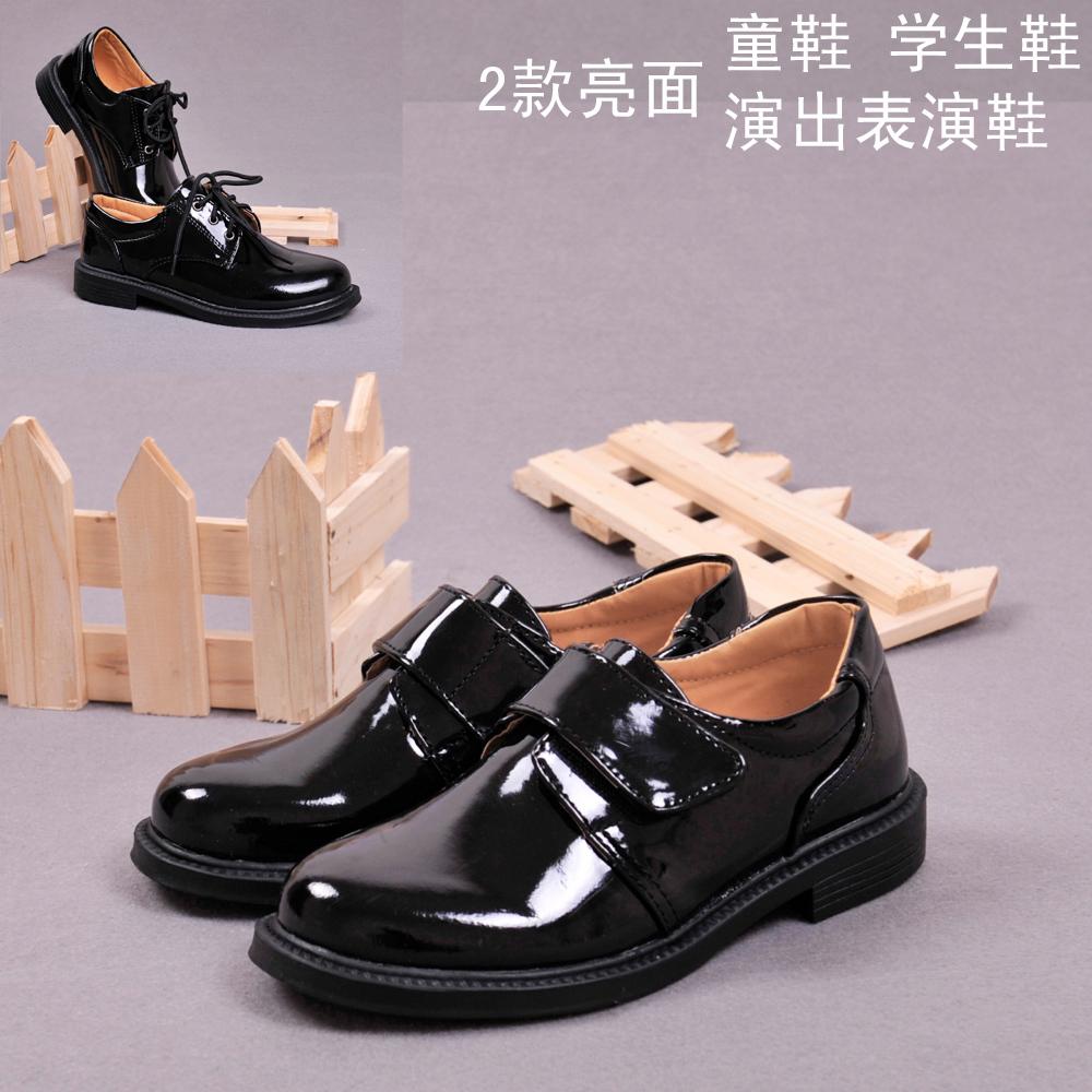 Дети обувь мальчиков Черная кожаная обувь платье обувь студенческие выступления детей обувь мальчиков
