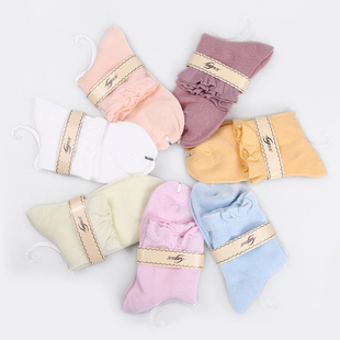 New Korean version of the lovely small floral socks solid color socks female socks foreign trade sober autumn socks wholesale price