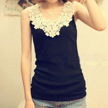 Women's spring/summer 2014 Daisy petals Hollow out lace crochet thread cotton render condole belt vest