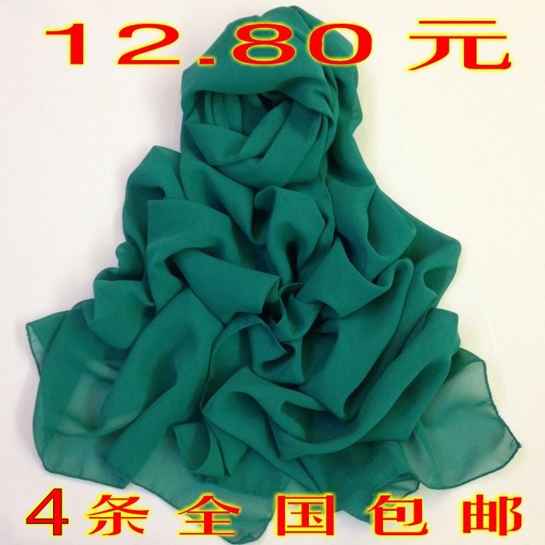 Специальный 4 пакет почты снег спиннинг долго шали Шарфы осень зимы невесты и новые сплошной цвет шарф шарф много цветов Факультативного