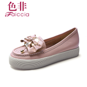 Non spring 2014 new counters authentic casual leather platform shoes at the end of round head WHA960201B