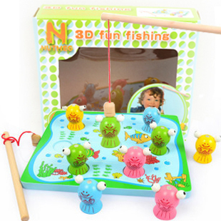 Fishing toys magnetic fishing toy animals simulation play house toys magnetic board 0 1 2 3 years