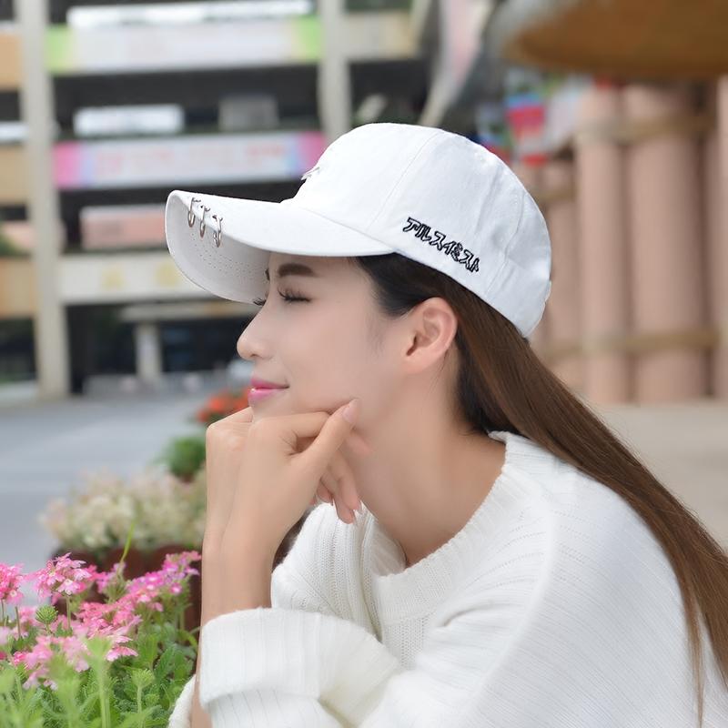 棒球帽鴨舌帽防曬遮陽帽子女夏白色太陽帽黑色純棉加長簷彎簷帽男