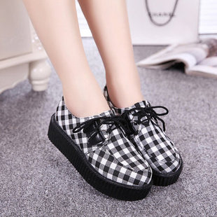 2014 new Japanese harajuku punk zipper underground graffiti heavy-bottomed platform shoes