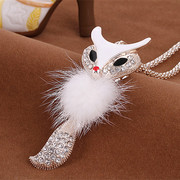 Good Korea jewelry necklaces Korean fashion cute Fox Joker long sweaters clothing accessories packs the chain-mail