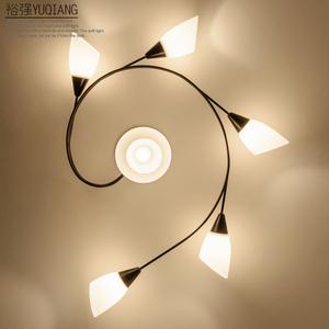 简约美式吸顶灯 创意个性客厅卧室吸顶灯美式乡村餐厅房间过道灯