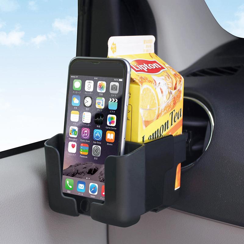 YAC多 車載手機支架子 汽車出風口手機座 車用 水杯架