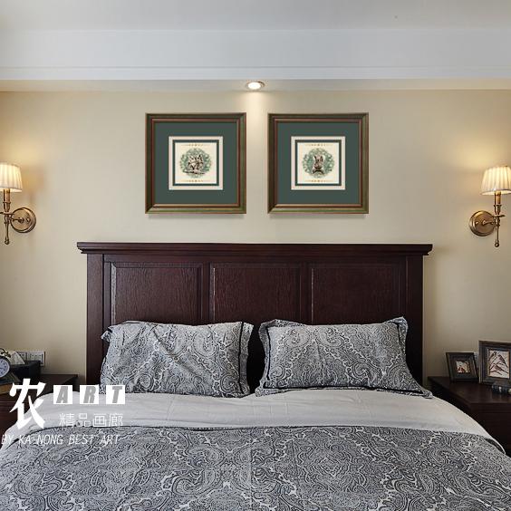 美式简美客厅沙发背景墙卧室挂画(非品牌)