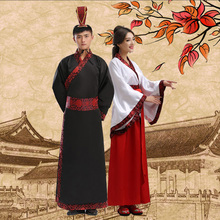 Classic Chinese clothes for men and women models Qufu deep clothes Huafu national costume stage costume Tang suit Hanfu rental lease