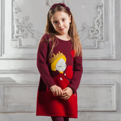 Europe and the United States children's wear the new qiu dong outfit 2015 cuhk children's sweaters girls round collar dress sweater render unlined upper garment