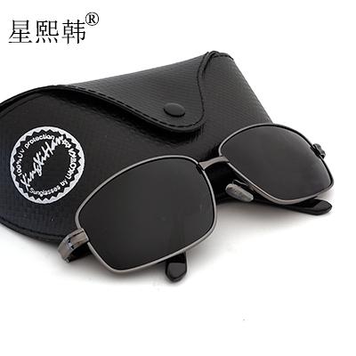 2016太陽鏡男女士墨鏡潮人開車偏光司機鏡方框男駕駛太陽眼鏡