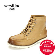 Westlink/West 2015 winter new vintage brush off casual leather men's boots with short tube Martin boots