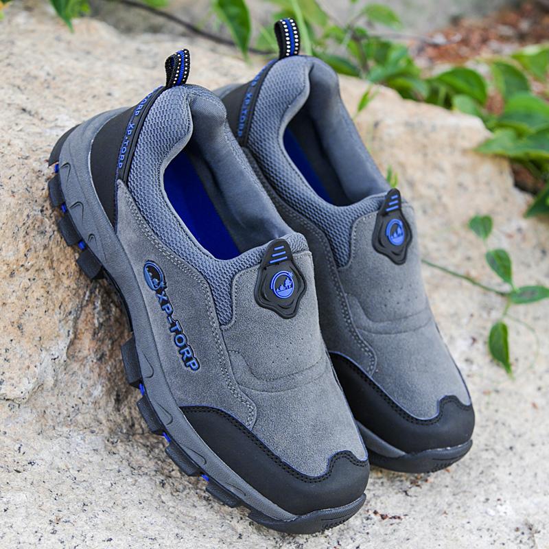 春季透气户外运动休闲鞋中年旅游父亲男鞋防滑中老年爸爸健步鞋男
