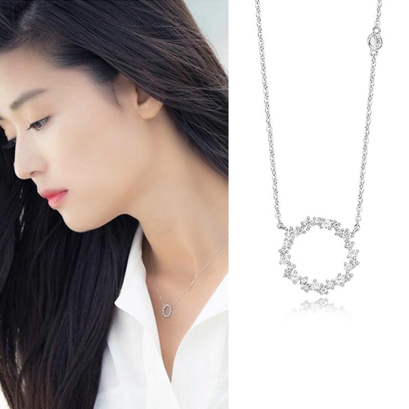 紫遇鎖骨鏈短款襯衫配飾日韓國 飾品裝飾簡約頸鏈項鏈女