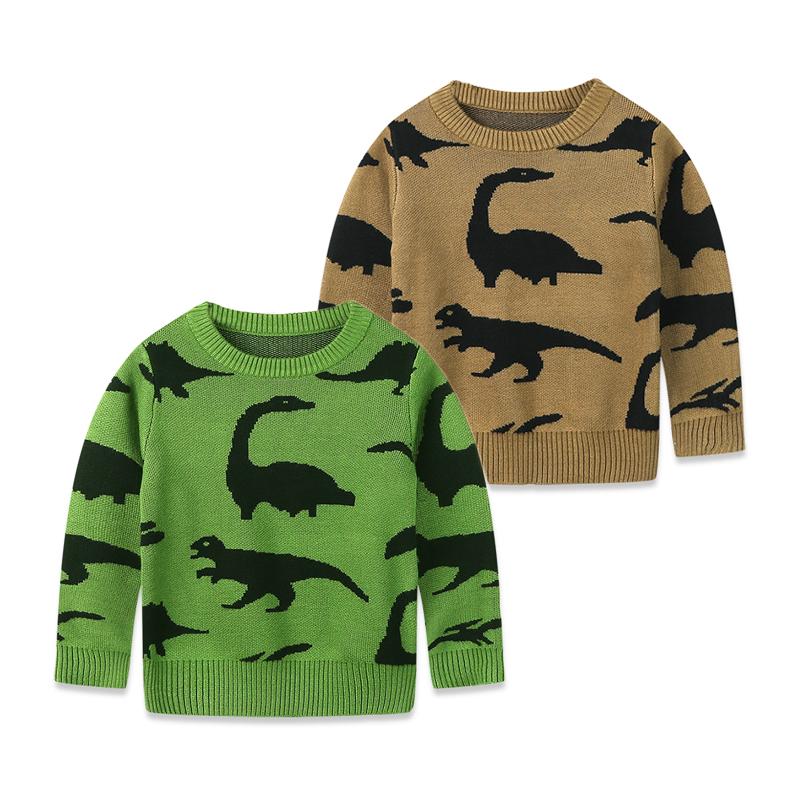 Дети мальчики зимы осени 2015 новый утолщенные конец чистого хлопка междурядное системы перемычки, мультфильм рубашки свитер печати