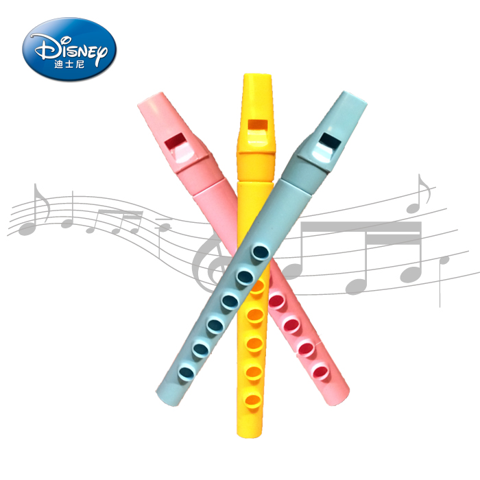 Disney childrens musical instrument flute three Pack Baby simulation music plastic toys playing instrument single tone