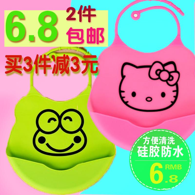 Детские силиконовые силиконовые водонепроницаемый нагрудник чтобы съесть ужин карман слюны полотенце bibs bib ребенка t