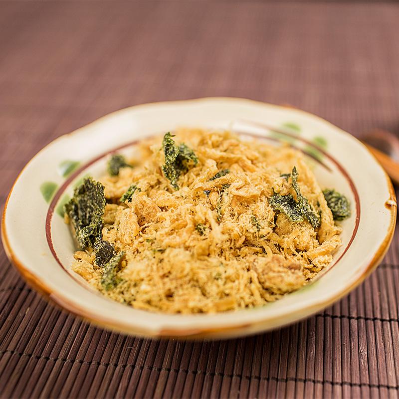 上海特�a小吃功德林素食 素肉松 60g豆腐皮+芝麻紫菜 豆制品