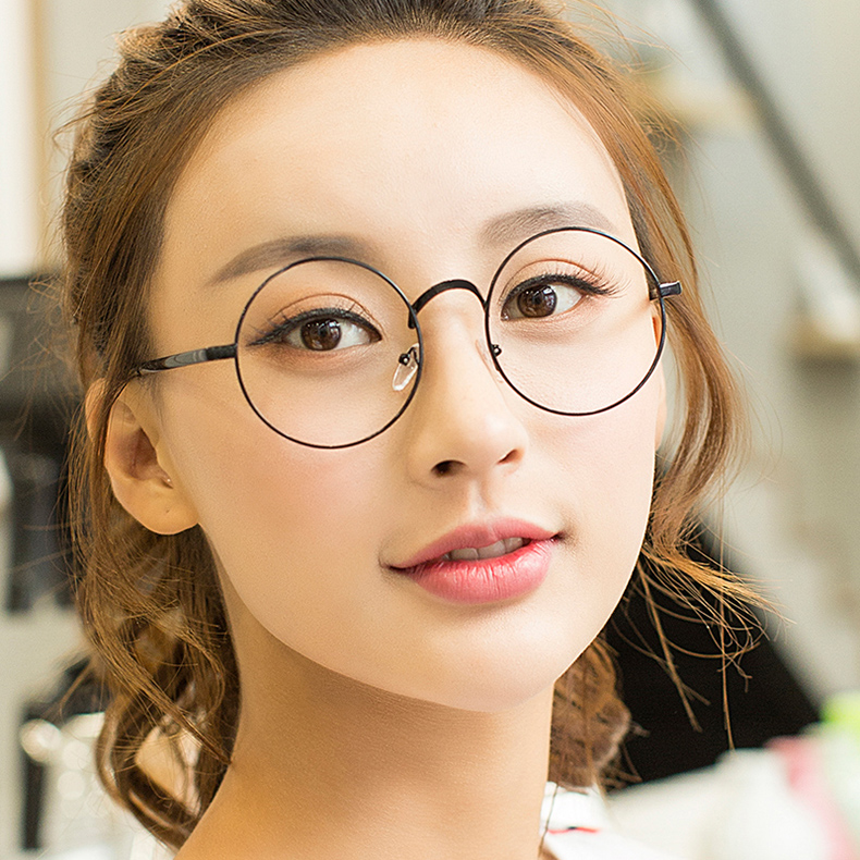 Круглый ретро очки полка женские модели чистый красный волна корейский близорукость глаз металл ясно, зеркало мужчина анти - синий очки