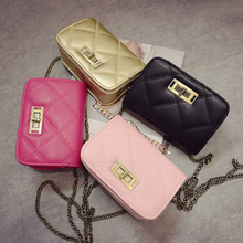In the summer of 2015 the new European and American fashion female bag shoulder bag chain ling, embroider line one shoulder female bag bag