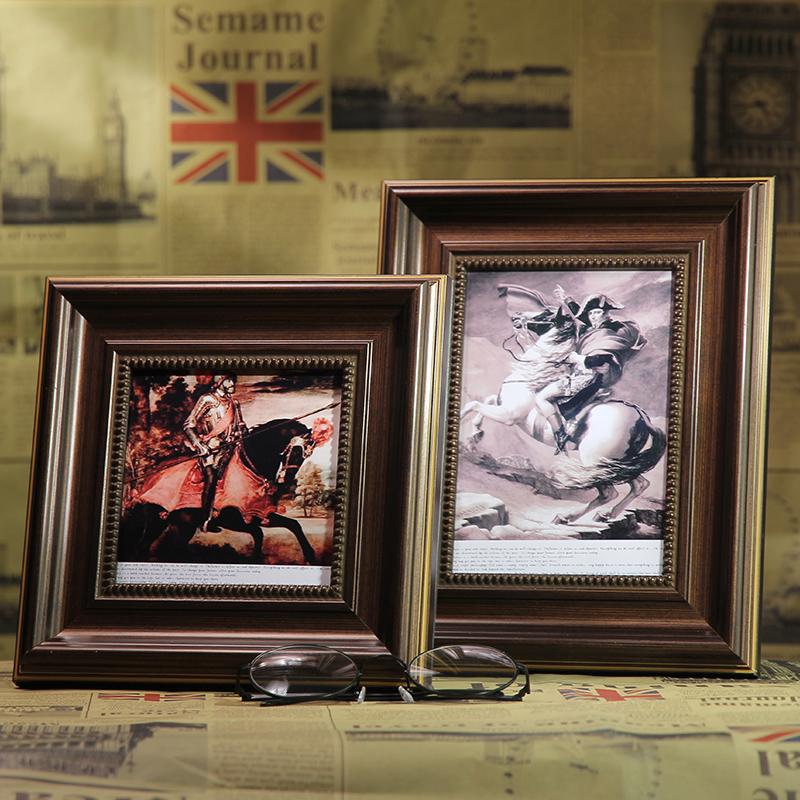 歐式相框複古美式擺台掛牆7寸6寸10寸8正方形5寸A4相架畫框