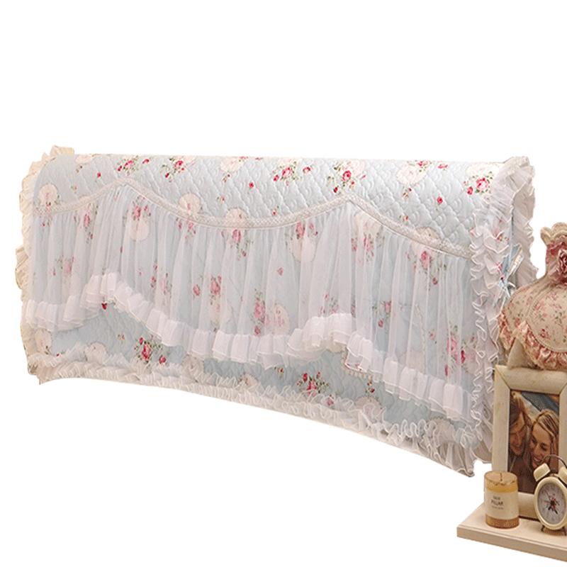 好夢連連田園布藝蕾絲公主床頭罩床頭套防塵罩保護套皮床甜美1.8m