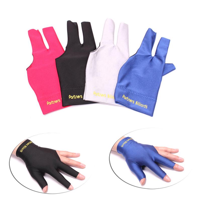 Бильразмер перчатки три пальца перчатки утечка палец стол игроки крышка бильразмер три пальца перчатки высокое качество прочный хорошая эластичность скольжение