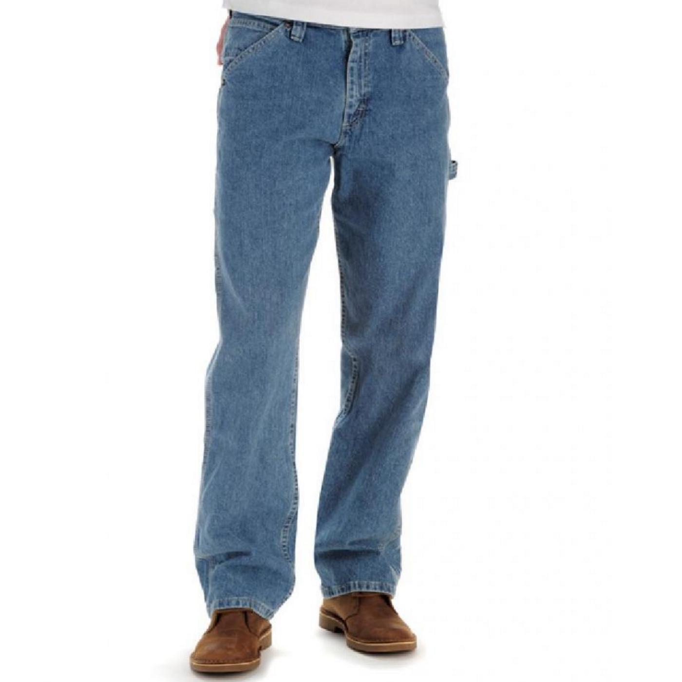 LEE李牛仔裤男秋季宽松休闲直筒中年复古中低腰长裤大码加肥加大